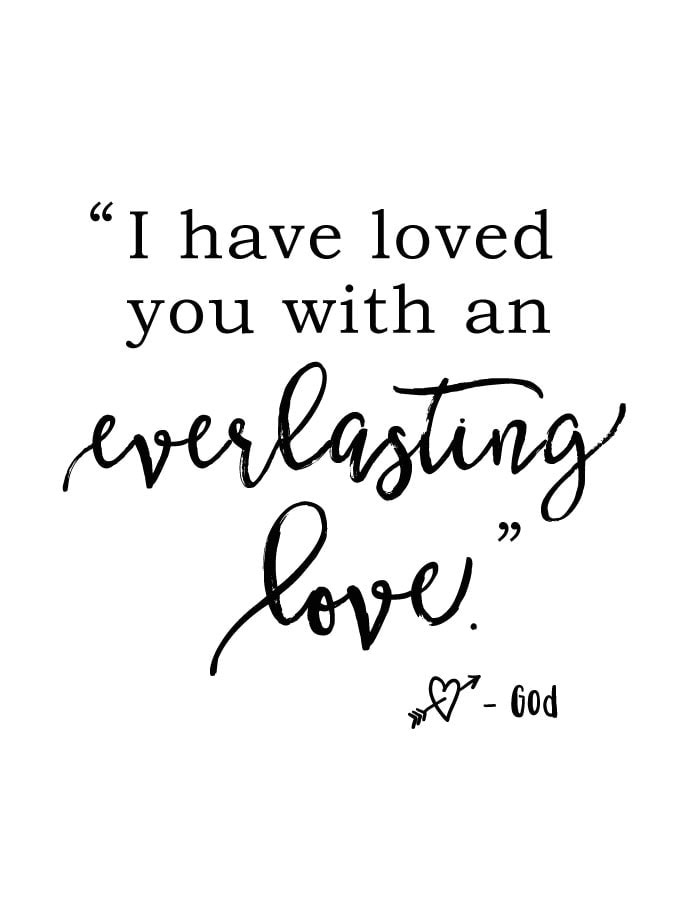 FREE printable reminder of God's everlasting love | The Harper House