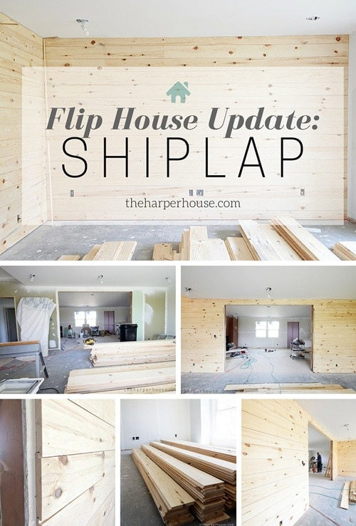 Do you love shiplap? Check out all the updates at our flip house and how we added instant character to a boring house by adding #shiplap | The Harper House