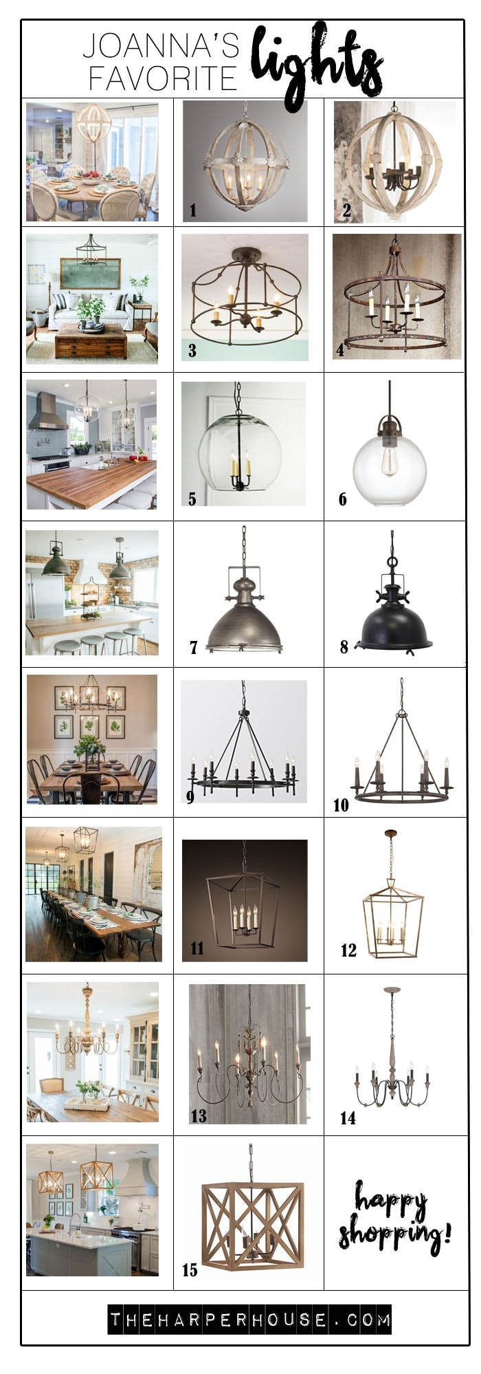 Joannas favorite light fixtures for fixer upper style the fixer upper lights find the exact light fixtures used by joanna gaines on fixer upper arubaitofo Images