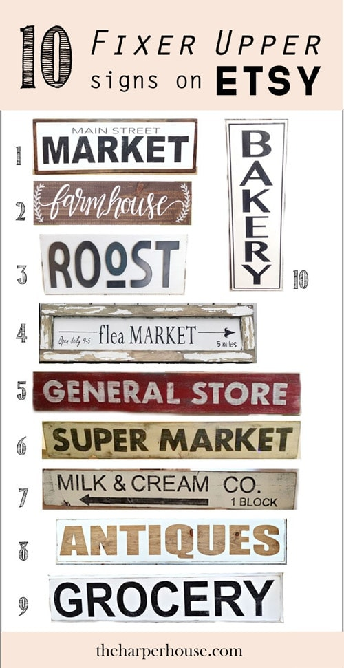 Fixer Upper style signs on Etsy like Joanna Gaines uses on #fixerupper and where to find them | The Harper House