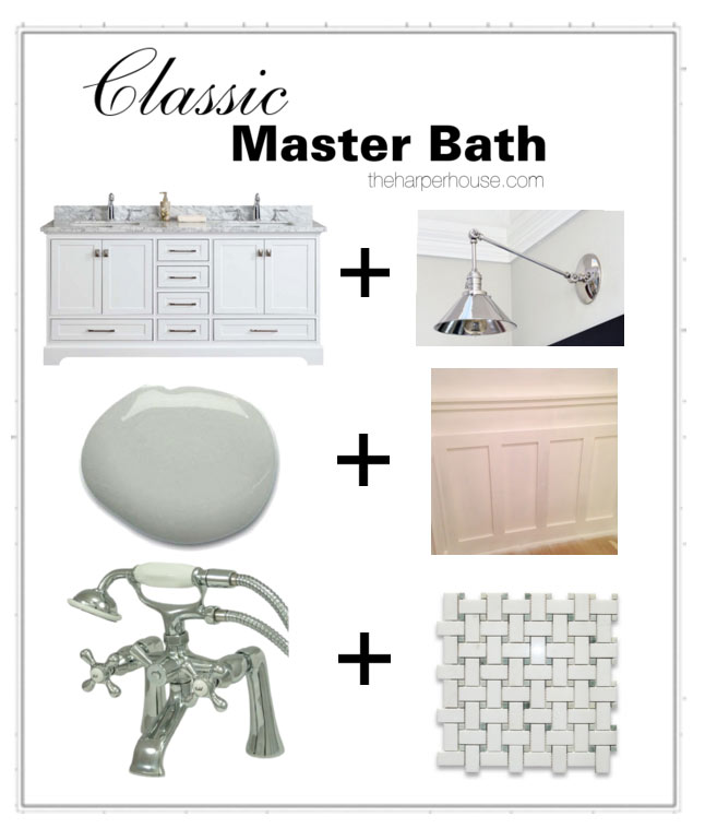 Follow along as we flip our fixer upper and add timeless classic features to the master bathroom | The Harper House