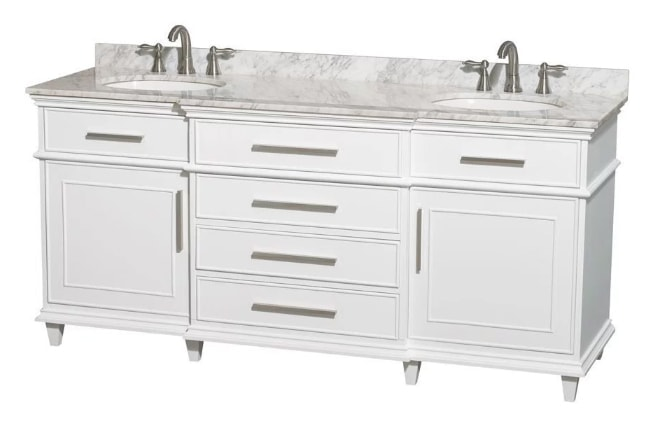 new vanity for the master bath in the flip house | theharperhouse.com