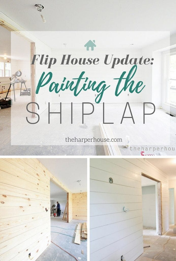 Wow! follow along as we add #fixerupper touches & shiplap to our flip house | theharperhouse.com
