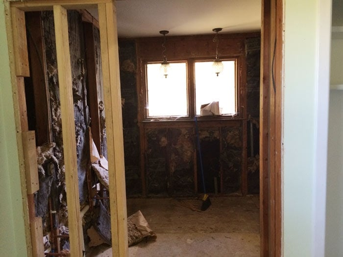 Here's the lovely before pic of the master bath in the Flip House | theharperhouse.com