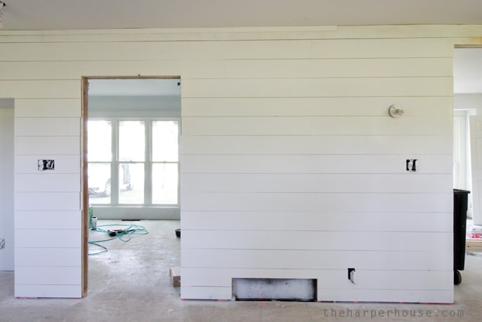 Flip House Update Painting The Shiplap