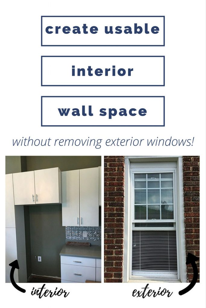 this is awesome! now we can wall up that window in the kitchen without worrying about what it will look like on the outside of the house!