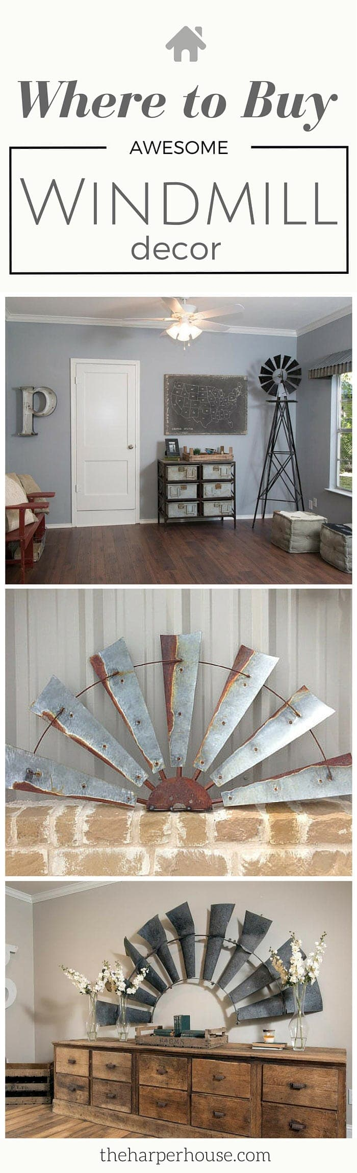 Decorating like joanna gaines - This Is Awesome I Ve Always Wondered Where To Buy Fixer Upper Windmill Decor